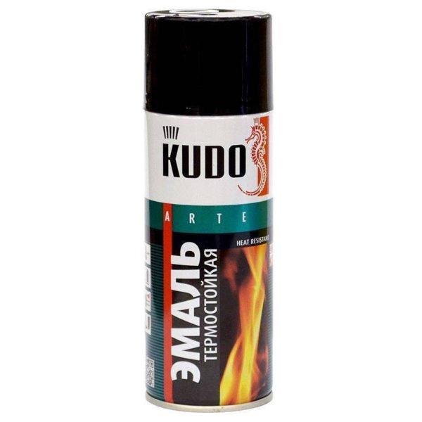 Kudo KU-5002 Эмаль термостойкая черная лакокрасочные материалы
