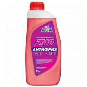 AGA001Z Антифриз, готовый к применению,красный,-40С ANTIFREEZE AGA-Z40 1л.