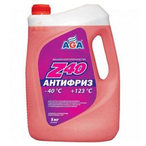 AGA002Z Антифриз, готовый к применению,красный,-40С ANTIFREEZE AGA-Z40 5л.