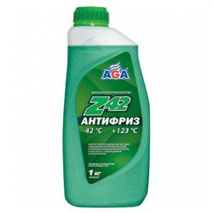 AGA048Z Антифриз, готовый к применению,зеленый,-42С ANTIFREEZE AGA-Z42 1л.
