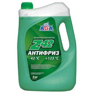 AGA049Z Антифриз, готовый к применению,зеленый,-42С ANTIFREEZE AGA-Z42 5л.