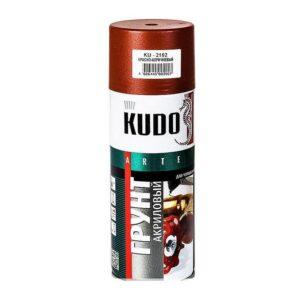 KU-2102 «Kudo» Грунт акриловый КРАСНО КОРИЧНЕВЫЙ (520 мл/270 г) кор. 12 шт.