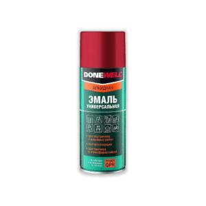 DW-1001 «DoneWell» Эмаль универсальная БЕЛАЯ глянцевая (520 мл/200 г)  кор. 12 шт.