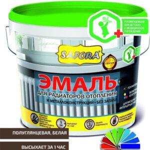 «Safora» Эмаль для радиаторов отопления акриловая 2,2 кг