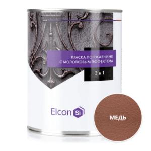 Elcon Smith 3 в 1 краски c молотковым эффектом МЕДЬ 0.8 кг