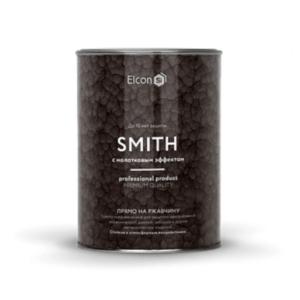 Elcon Smith 3 в 1 краски c молотковым эффектом СЕРЕБРО 0.8 кг