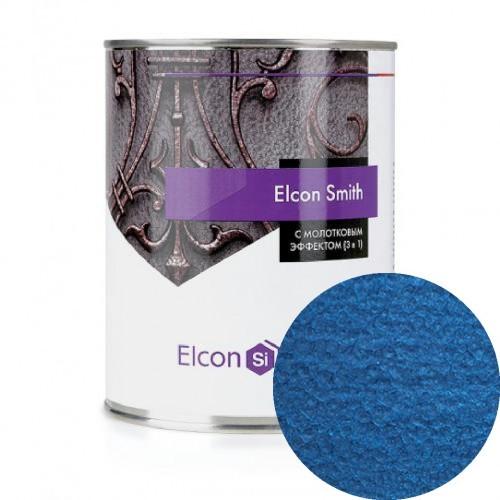 Elcon Smith 3 в 1 краски c молотковым эффектом СИНЯЯ 2.4 кг