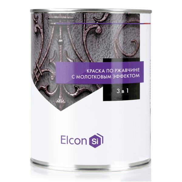 Elcon Smith 3 в 1 краски c молотковым эффектом ЧЕРНАЯ 0.8 кг